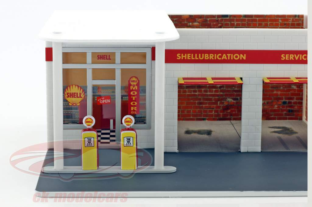 Vintage Tankstelle Shell Mechanic's Corner Series 2 1:64 Greenlight