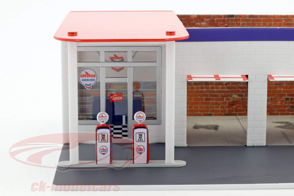 Vintage Tankstelle Chevron Mechanic's Corner Series 2 1:64 Greenlight