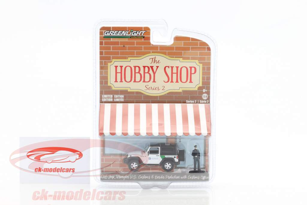 Jeep Wrangler US Customs & Border Protection avec figure 1:64 Greenlight