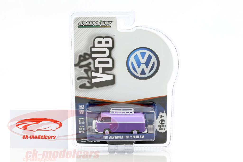 Volkswagen VW T2 Panel Van helllila / dunkellila 1:64 Greenlight
