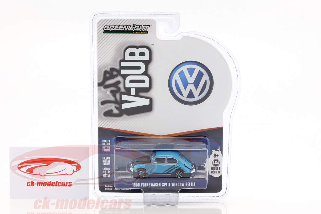 Volkswagen VW Beetle blu / nero 1:64 Greenlight
