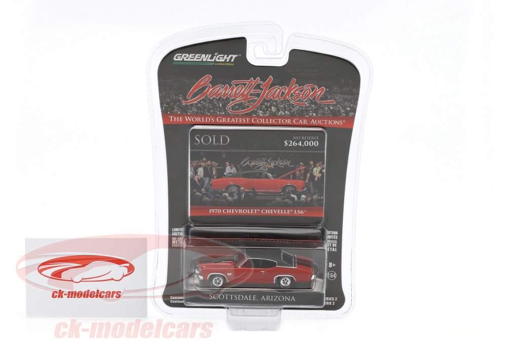 Chevrolet Chevelle LS6 year 1970 red / black 1:64 Greenlight