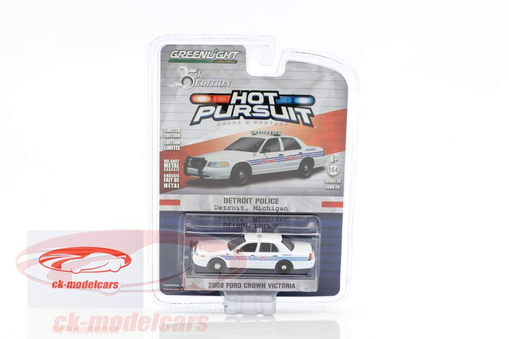 Ford Crown Victoria Detroit Police year 2008 1:64 Greenlight