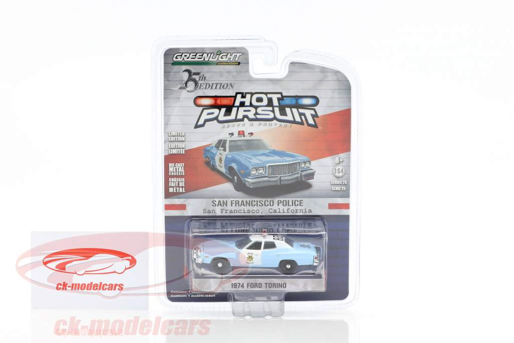 Ford Torino San Francisco Police year 1974 1:64 Greenlight