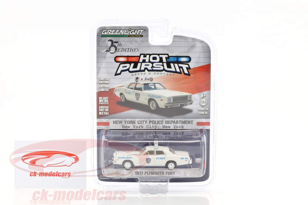 Plymouth Fury NYPD year 1977 1:64 Greenlight