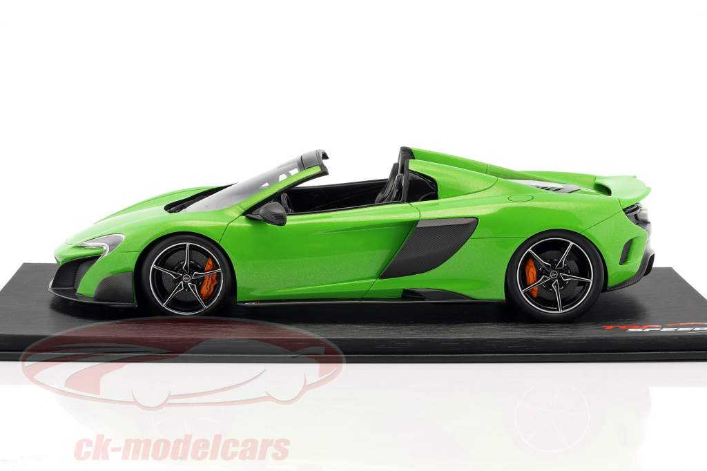 McLaren 675LT Spider mantis verde 1:18 TrueScale