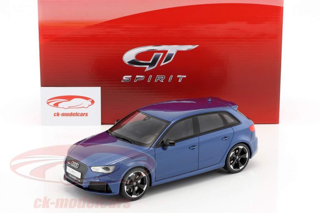 Audi RS3 year 2015 blue metallic 1:18 GT-Spirit