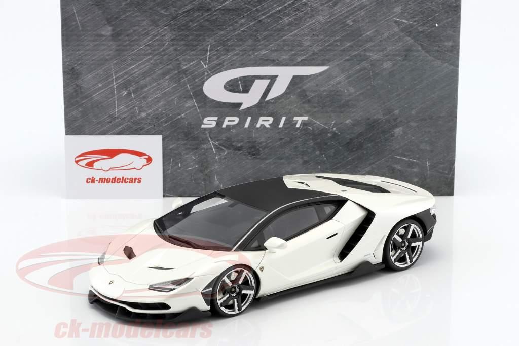 Lamborghini Centenario year 2016 pearl white 1:18 GT-Spirit
