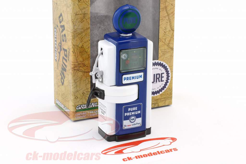 Wayne 100-A Pure Oil gas pump 1948 blue / white - green version 1:18 Greenlight