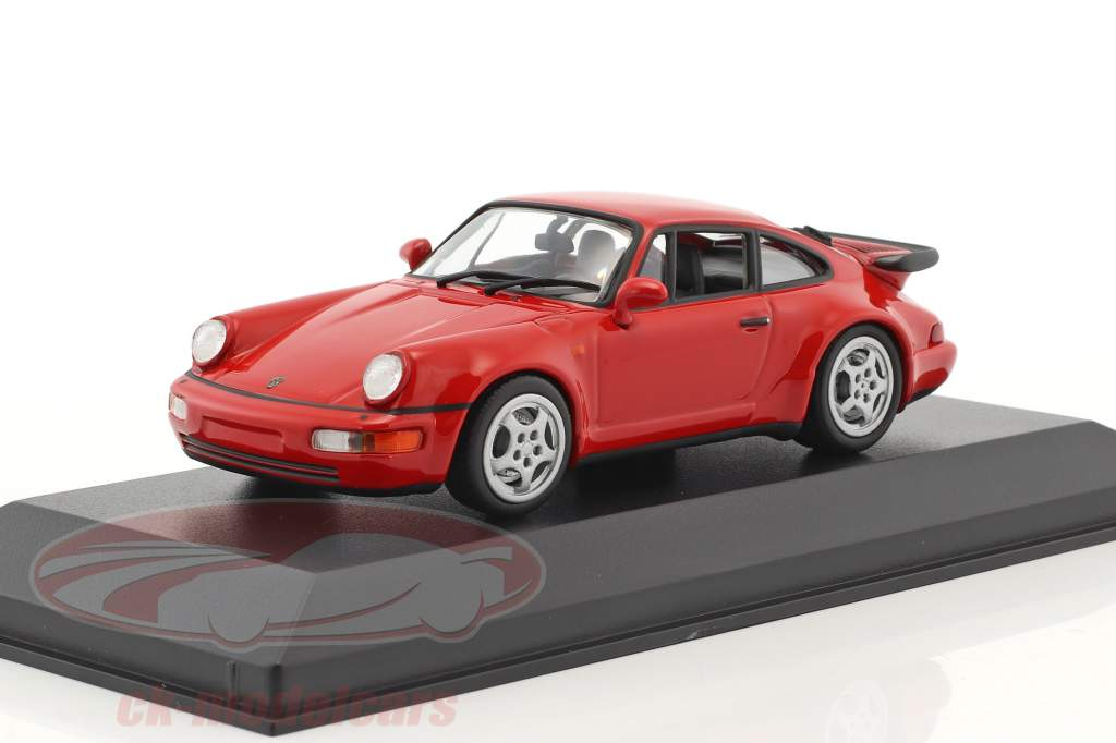 Porsche 911 (964) Turbo year 1990 red 1:43 Minichamps