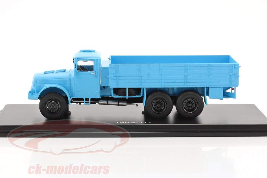 Tatra 111 platform truck with Plans Light Blue 1:43 PremiumClassiXXs