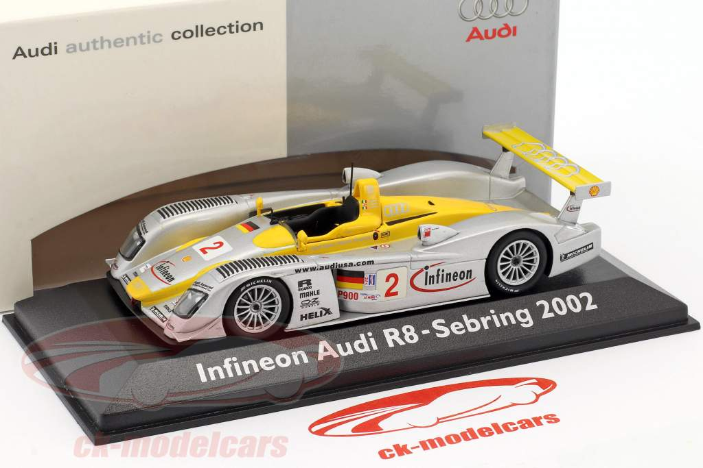 Infineon Audi R8 #2 Winner 12h Sebring 2002 1:43 Minichamps