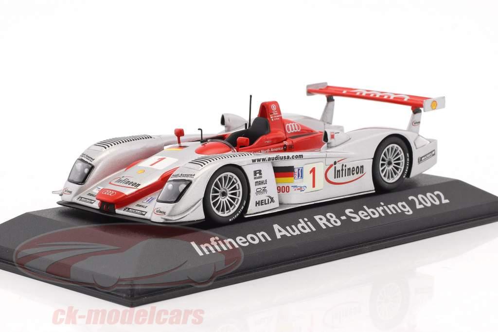 Audi R8 Infineon #1 12h Sebring 2002 Pirro, Kristensen, Biela 1:43 Minichamps