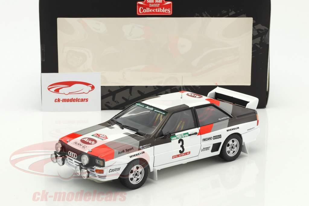 Audi Quattro A1 #3 Winner Rallye Portugal 1983 Mikkola, Hertz 1:18 SunStar
