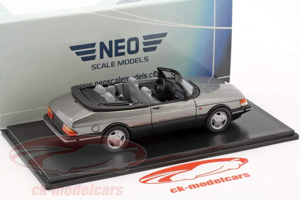 Saab 900 Cabriolet year 1987 gray metallic 1:43 Neo