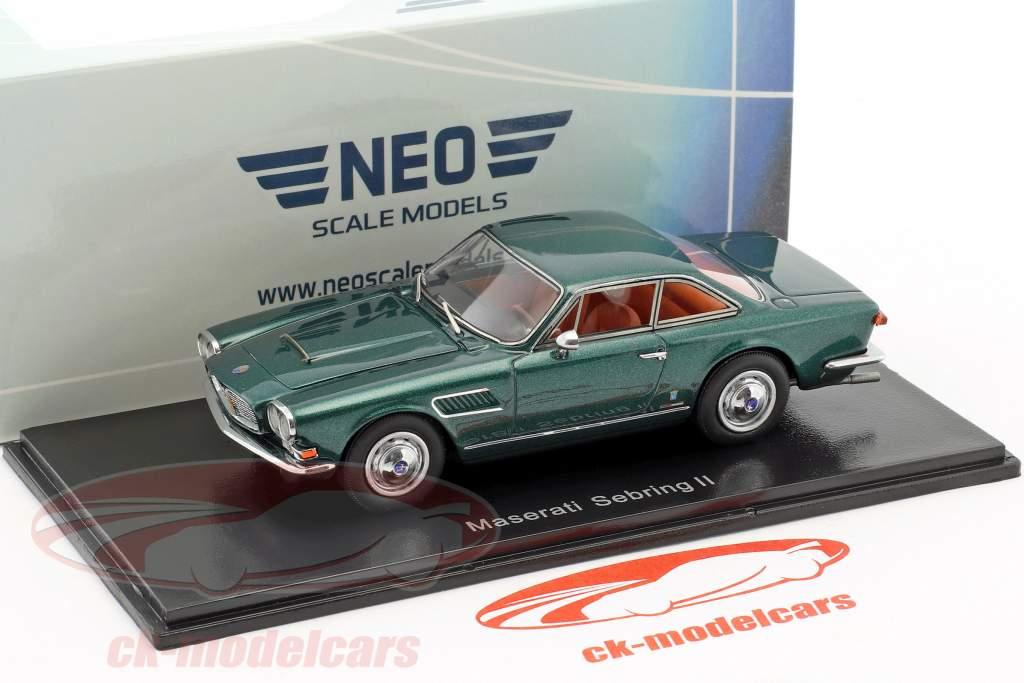 Maserati Sebring Serie II vert foncé métallique 1:43 Neo