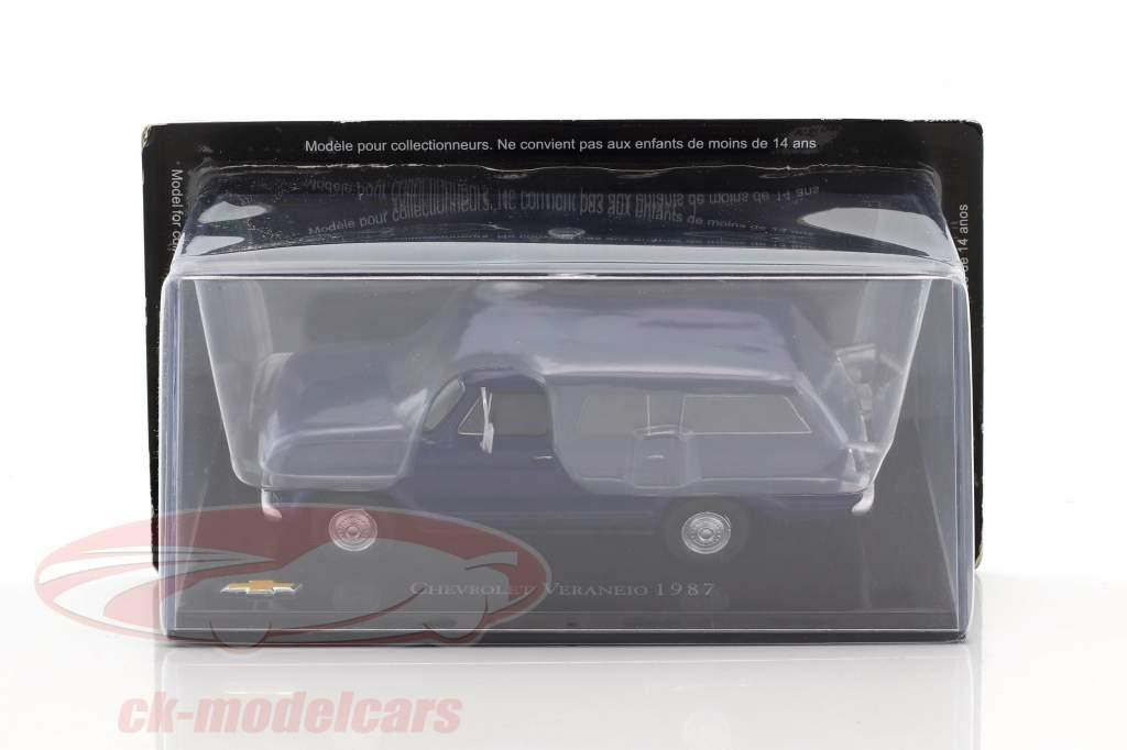 Chevrolet Veraneio année de construction 1987 bleu 1:43 Altaya
