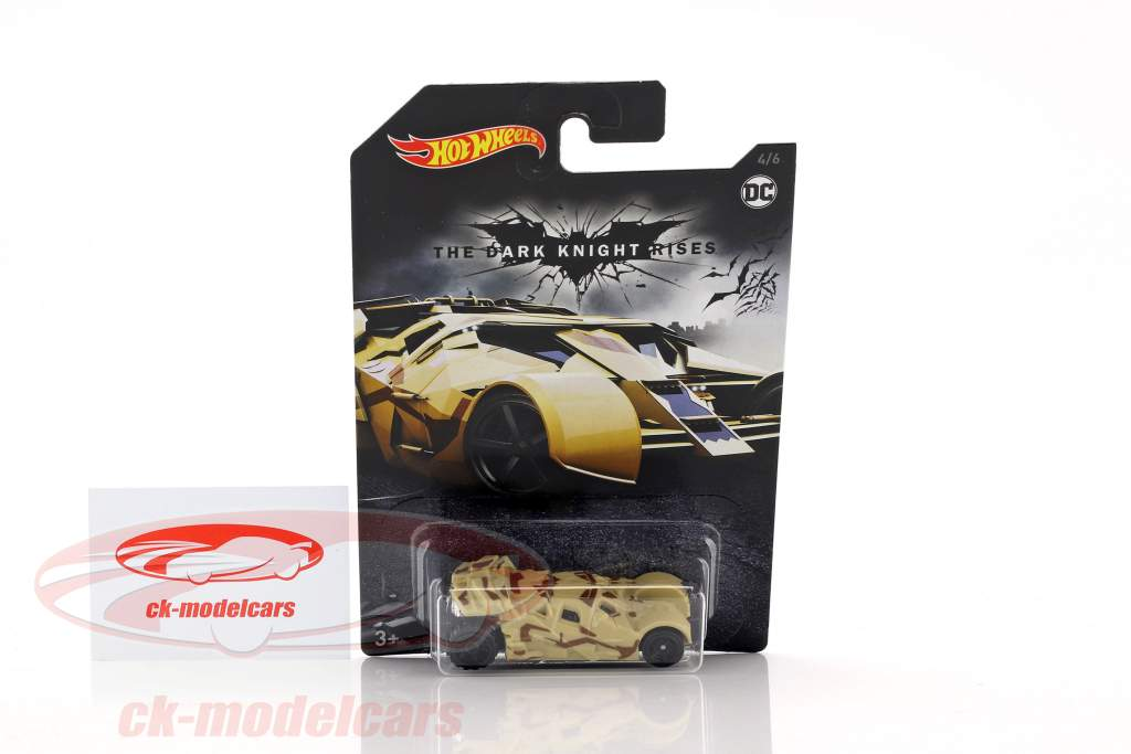Batman Tumbler DC Comics The Dark Knight Rises beige / brown 1:64 HotWheels