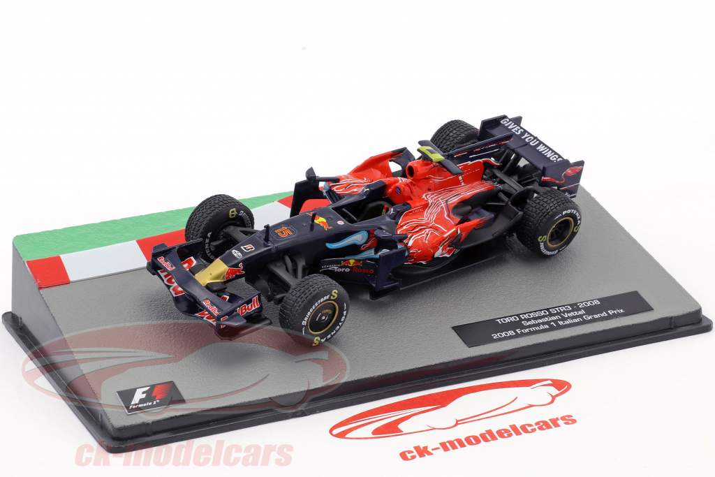 Sebastian Vettel Toro Rosso STR3 #15 Winner Italy GP formula 1 2008 1:43 Altaya