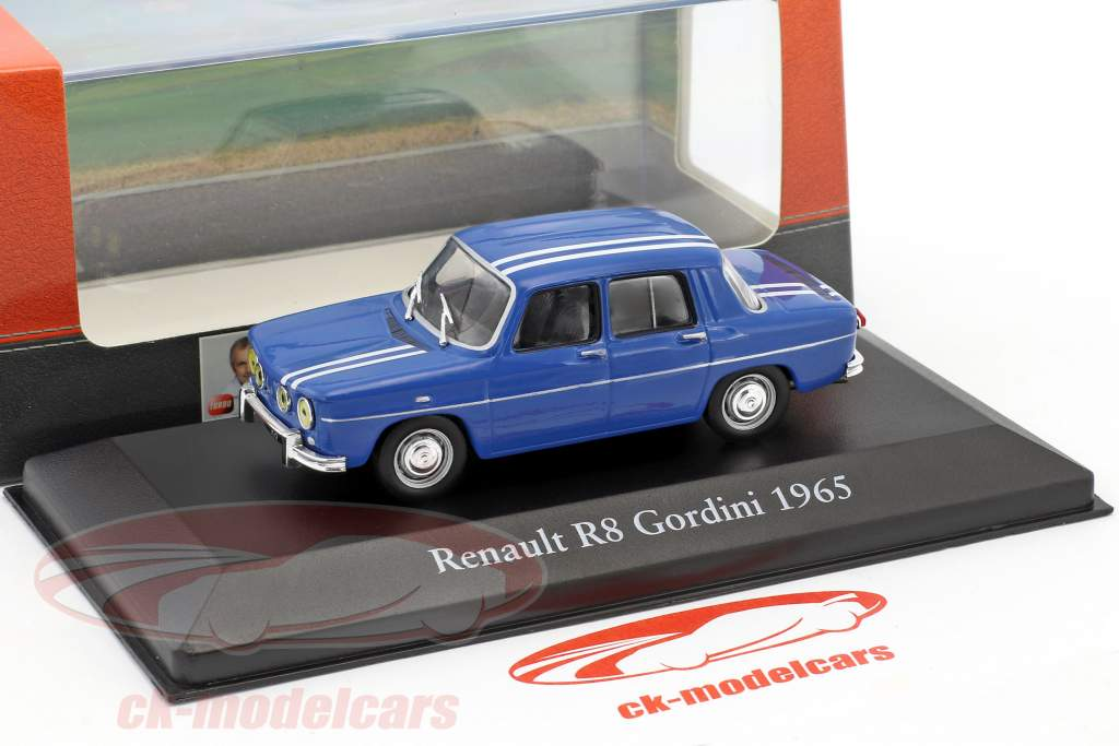 Renault R8 Gordini year 1965 blue 1:43 Atlas