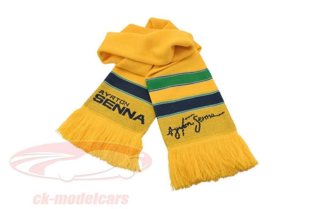 Ayrton Senna Schal Racing gelb