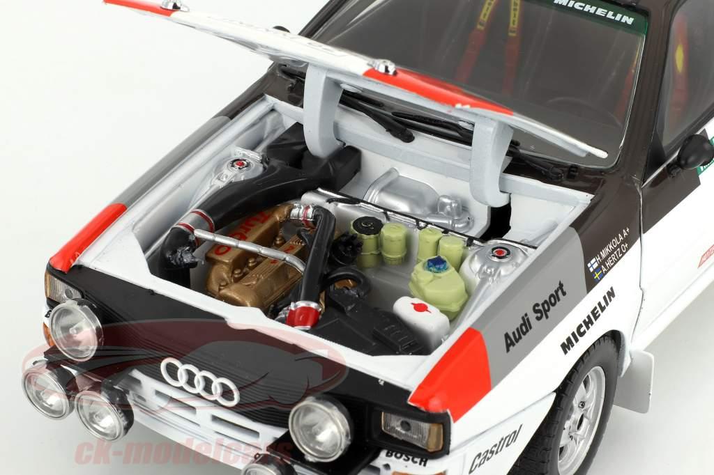 Audi Quattro A1 #3 vincitore Rallye Portogallo 1983 Mikkola, Hertz 1:18 SunStar