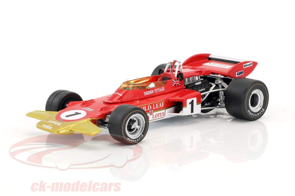 Emerson Fittipaldi Lotus 72D #1 French GP formula 1 1970 1:43 Quartzo