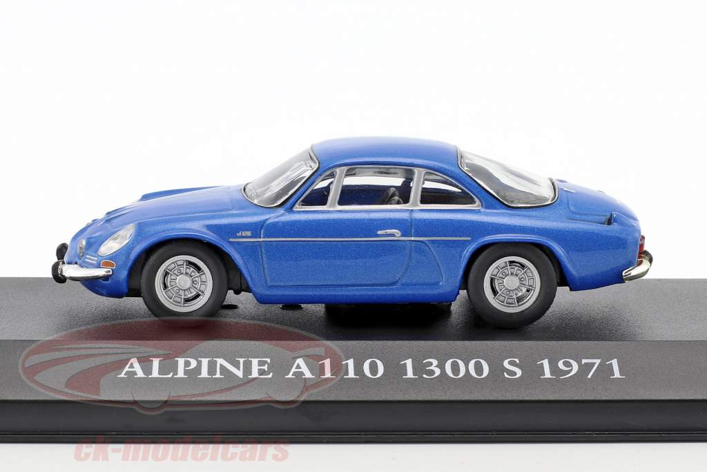 Alpine A110 1300S year 1971 blue 1:43 Atlas