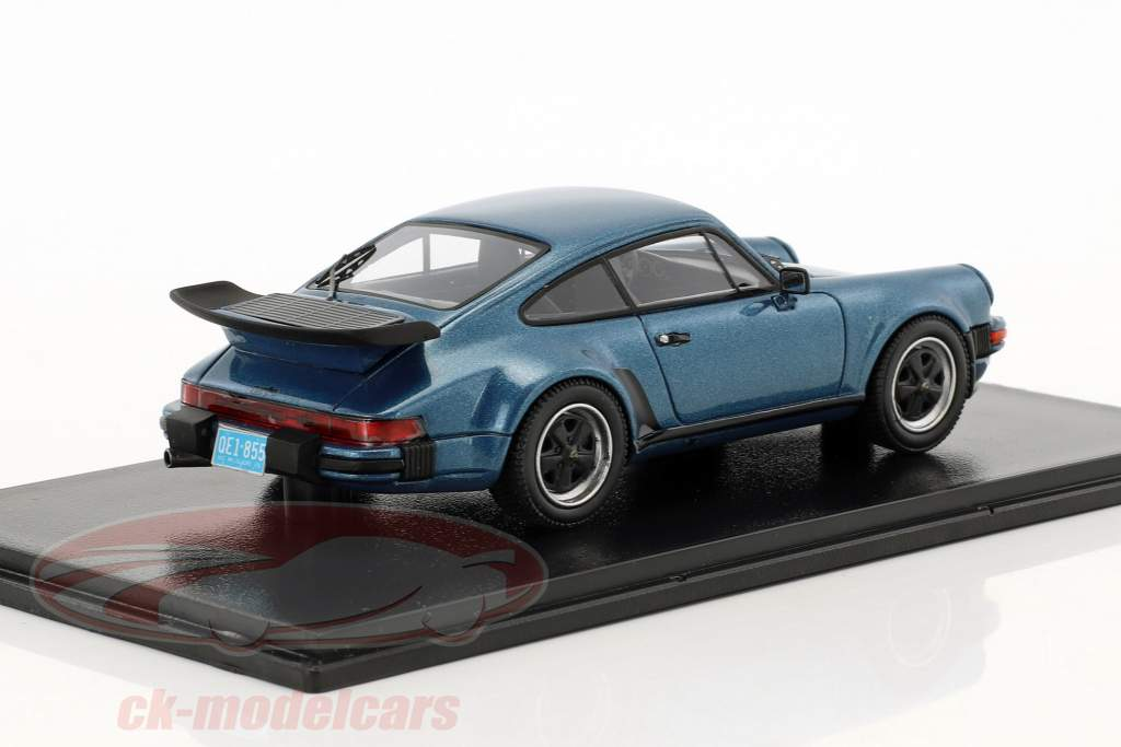 Porsche 911 (930) Turbo USA year 1979 blue metallic 1:43 Neo