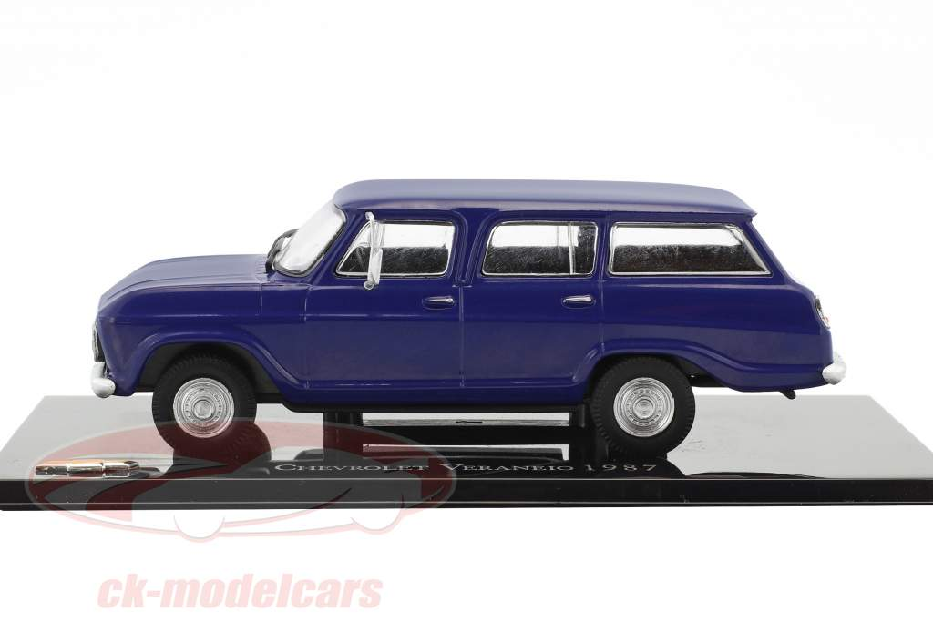 Chevrolet Veraneio year 1987 blue 1:43 Altaya