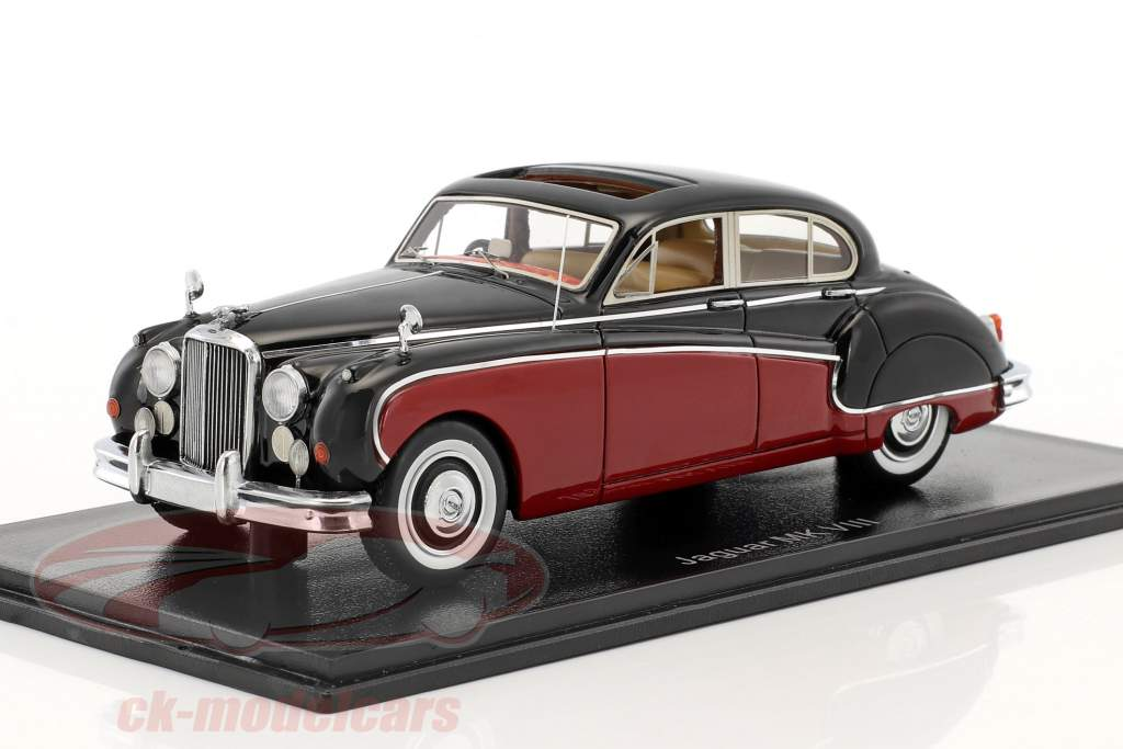 Jaguar MK VIII RHD dark red / black 1:43 Neo