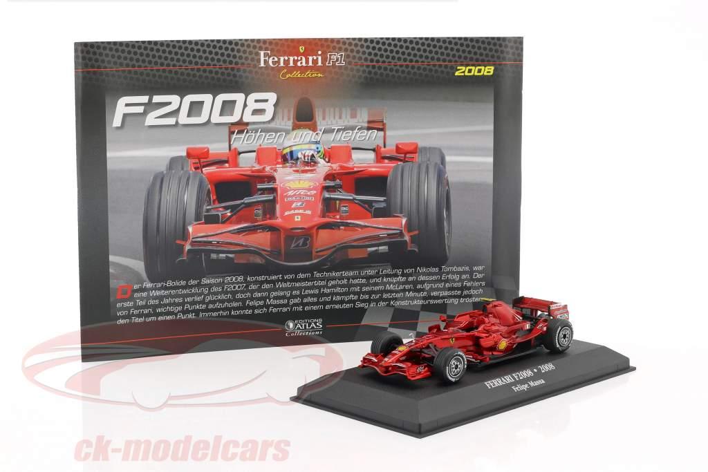 Felipe Massa Ferrari F2008 #2 2nd Formel 1 2008 1:43 Atlas