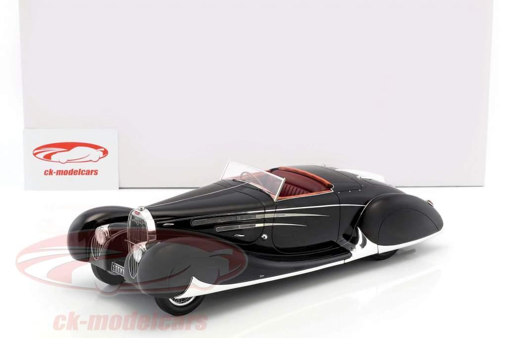 Bugatti Type 57C cabriolet VanVooren scià di Iran anno di costruzione 1939 scuro blu 1:18 Matrix