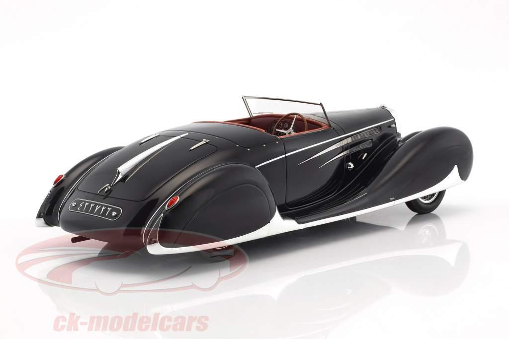 Bugatti Type 57C cabriolet VanVooren shah de Iran année de construction 1939 sombre bleu 1:18 Matrix