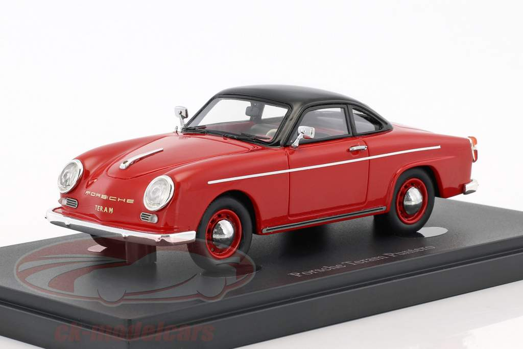 Porsche Teram Puntero year 1958 red / black 1:43 AutoCult
