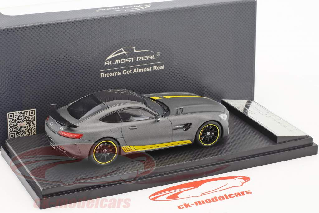 Mercedes-Benz AMG GT R year 2017 yellow / grey metallic 1:43 Almost Real