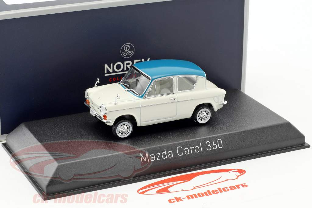 Mazda Carol 360 année de construction 1962 blanc / bleu clair 1:43 Norev