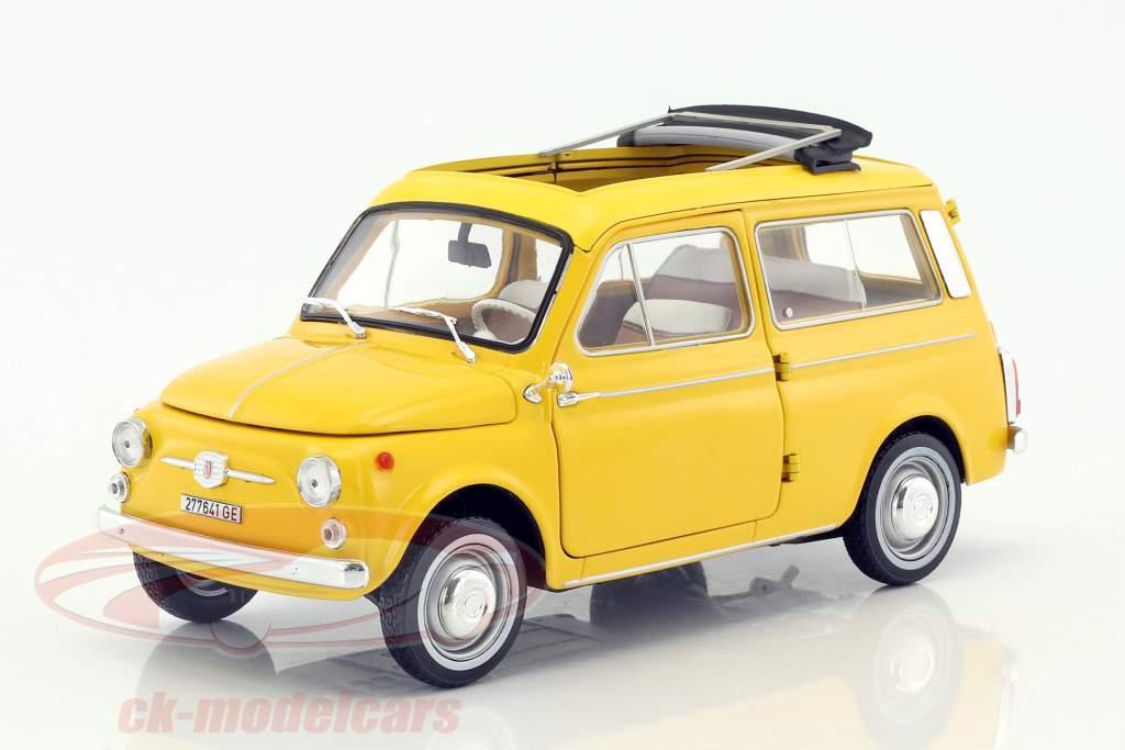 Fiat 500 Giardiniera anno di costruzione 1968 positano giallo 1:18 Norev