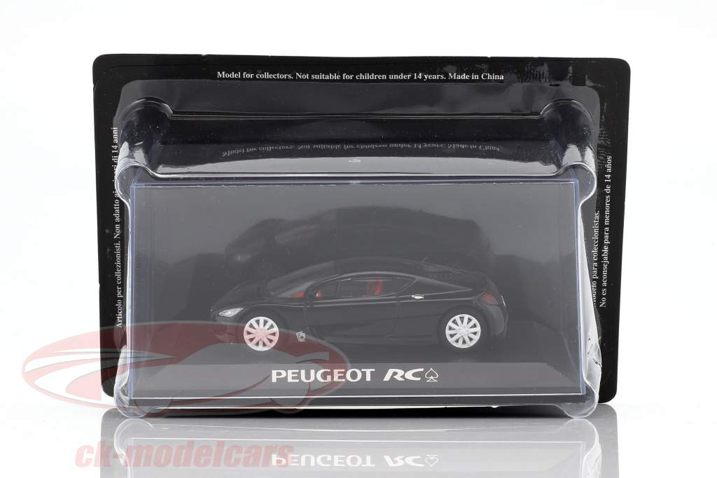 Peugeot RC Pique Concept Car nero in bolla 1:43 Norev