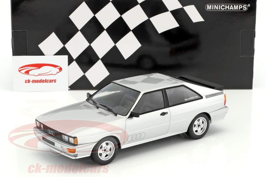 Audi Quattro year 1980 silver 1:18 Minichamps