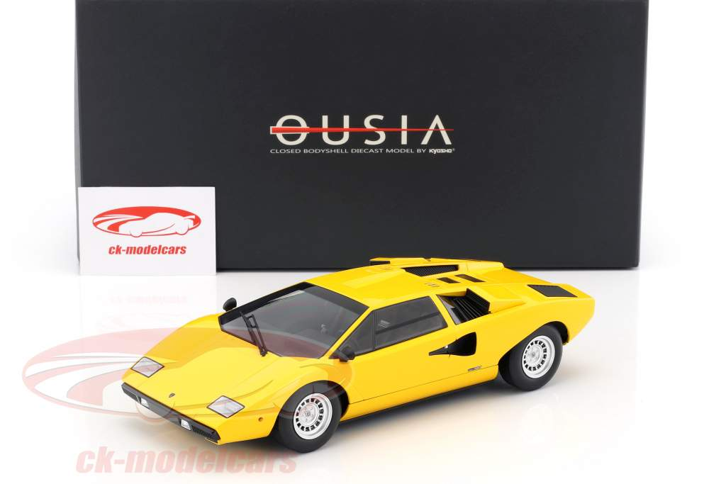 Lamborghini Countach LP400 jaune 1:18 Kyosho
