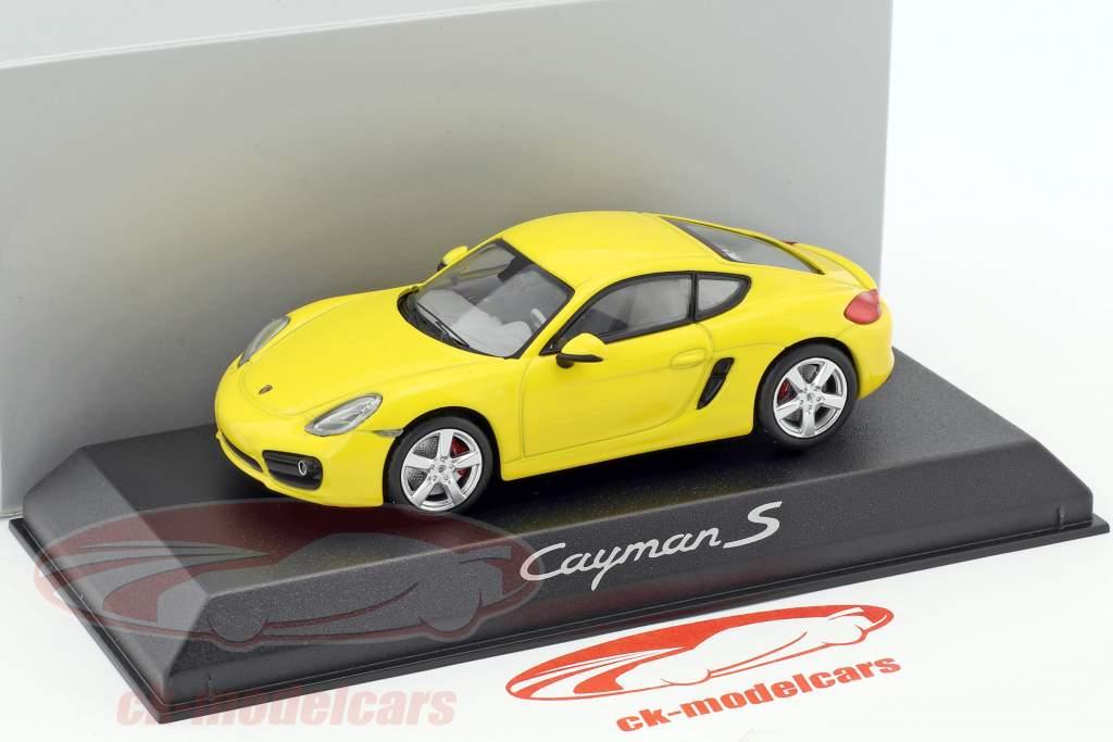 Porsche Cayman S 981 year 2013 yellow 1:43 Norev