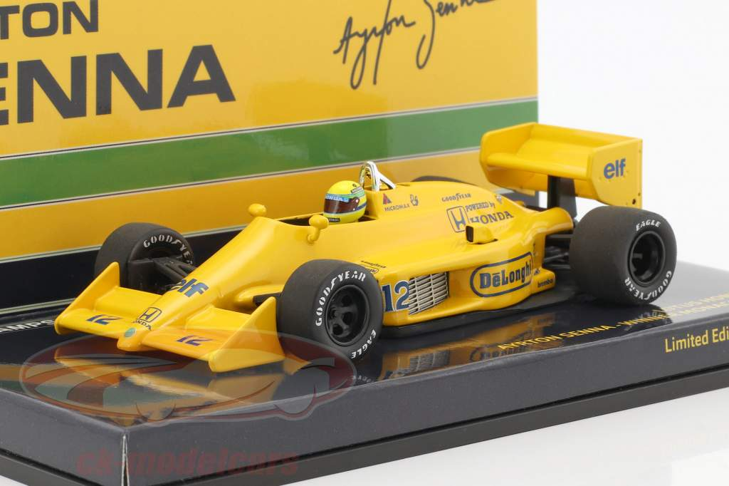 Ayrton Senna Lotus 99T #12 Winner monaco GP formula 1 1987 1:43 Minichamps