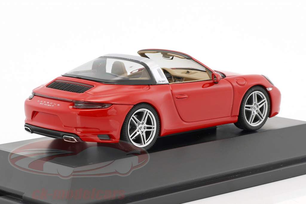 Porsche 911 (991 II) Targa 4S année de construction 2016 rouge 1:43 Herpa