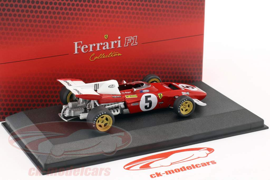 Clay Regazzoni Ferrari 312 B2 #5 formula 1 1971 with showcase 1:43 Atlas