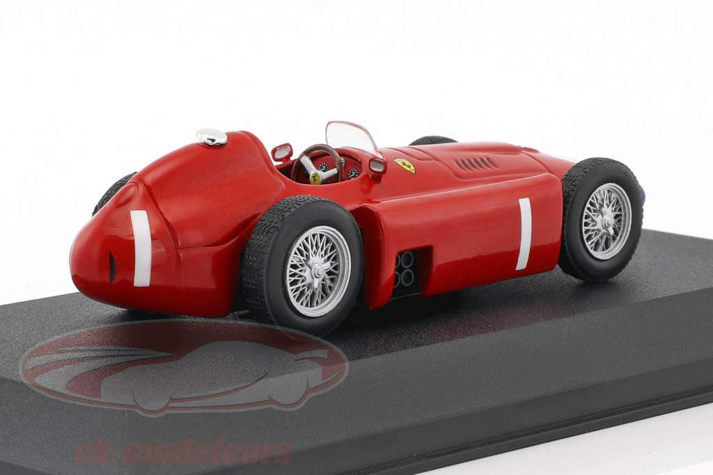 Juan Manuel Fangio Ferrari D50 #1 World Champion F1 1956 with showcase 1:43 Atlas
