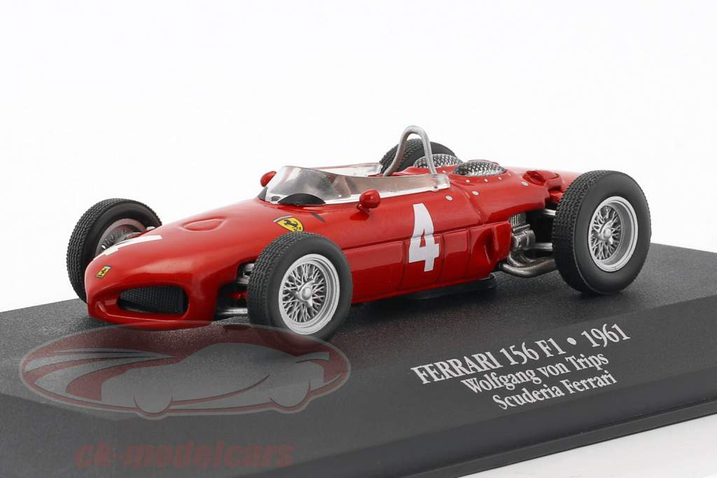 Wolfgang Graf Berghe von Trips Ferrari 156 Sharknose #4 2nd F1 1961 with showcase 1:43 Atlas