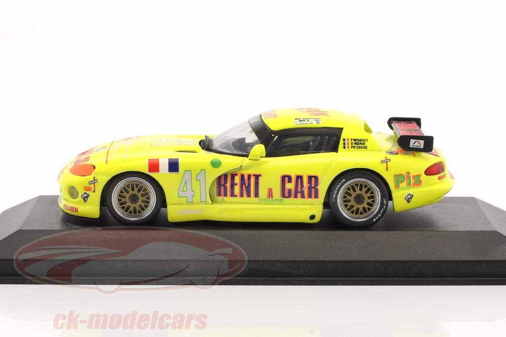 Dodge Viper Rent a Car #41 24h LeMans 1994 Migault, Morin 1:43 Minichamps false overpack