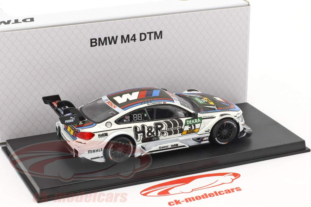 BMW M4 DTM #31 DTM 2017 Tom Blomqvist BMW Team RBM 1:43 Herpa