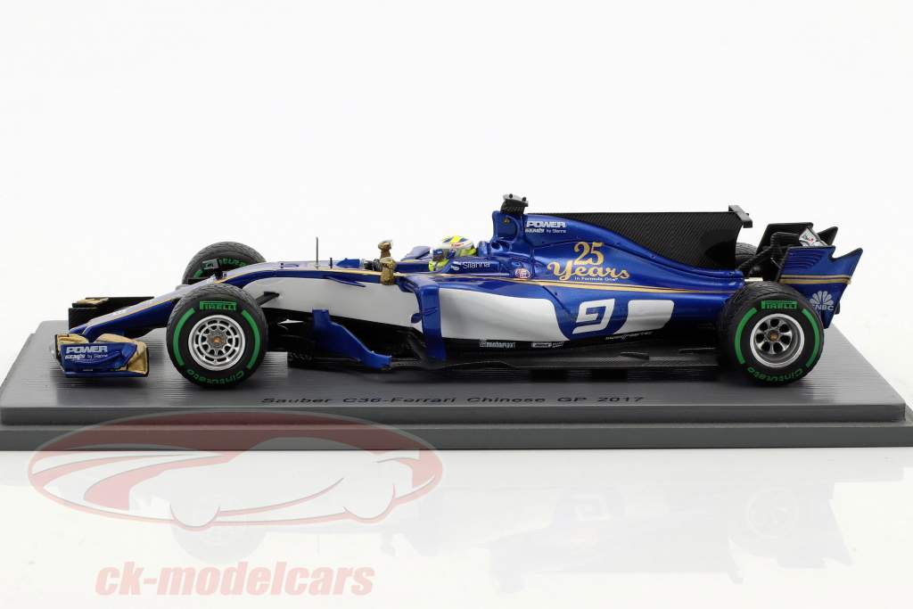 Marcus Ericsson Sauber C36 #9 Chinese GP formula 1 2017 1:43 Spark